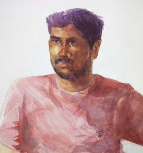 Watercolor Portrait Study 31-7-2018 Watercolor Portrait Study 31-7-2018