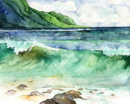 – #11Day #Waves #WorldWaterColorMonth #DoodleWashAugust2018 images (18)