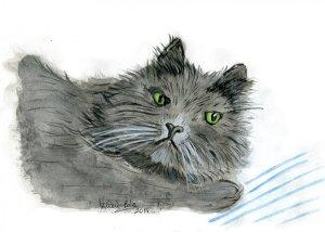 The cat! pintura_gato_1