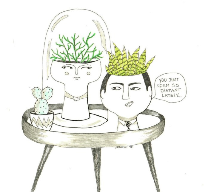 Plant Cartoon Illustration by Bernadette Sabatini - Doodlewash