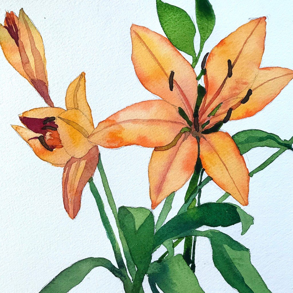 I love painting flowers. This painting is on my blog as a tutorial. wcstep5