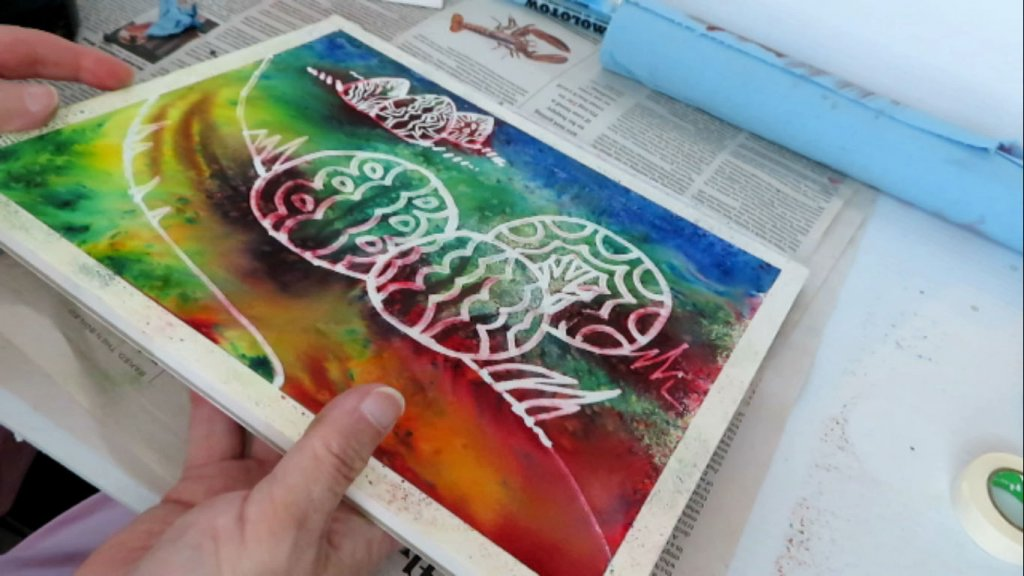 Batik Style Watercolor Painting - Almost Complete - Doodlewash