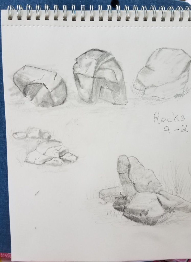 #doodlewashseptember2018 Never had a pet rock 😫but I practiced drawing them 20180902_102858
