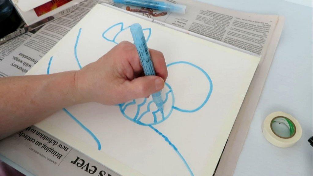 Using Masking Fluid on Watercolor Paper - Batik Patterns - Doodlewash