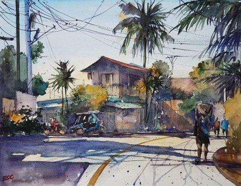 Watercolor by Aliver Escano - Doodlewash