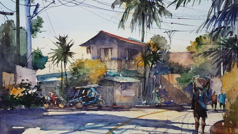 Watercolor by Aliver Escano - Doodlewash