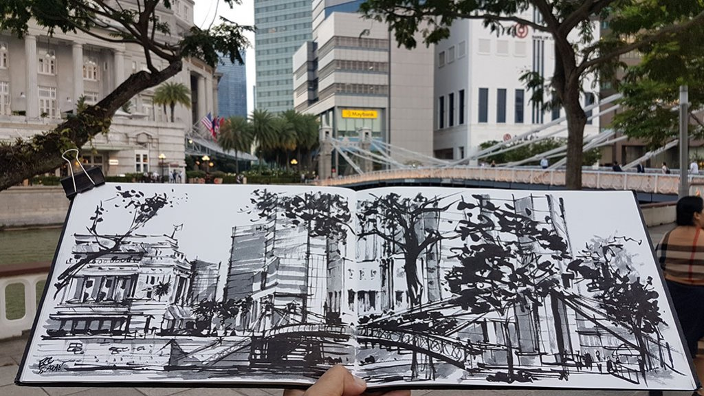 Urban Sketch by Aliver Escano - Doodlewash
