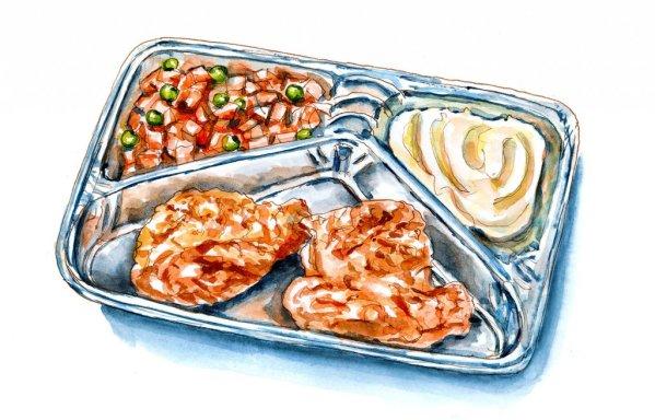 Day 10 - TV Dinner Day Watercolor Illustration - Doodlewash