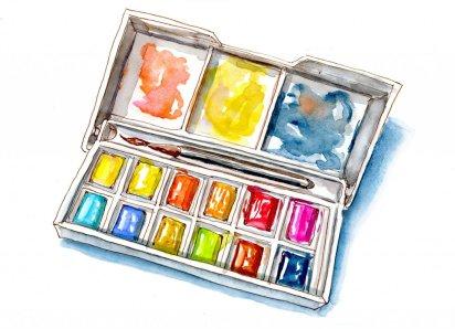 Day 25 - World Dream Day Watercolor Paint Palette - Doodlewash
