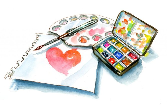 Day 29 - World Heart Day Watercolor Art - Doodlewash