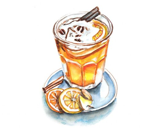 Day 30 - Hot Mulled Cider Day Watercolor - Doodlewash