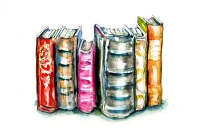Day 6 - Read A Book Day Old Book Watercolor - Doodlewash