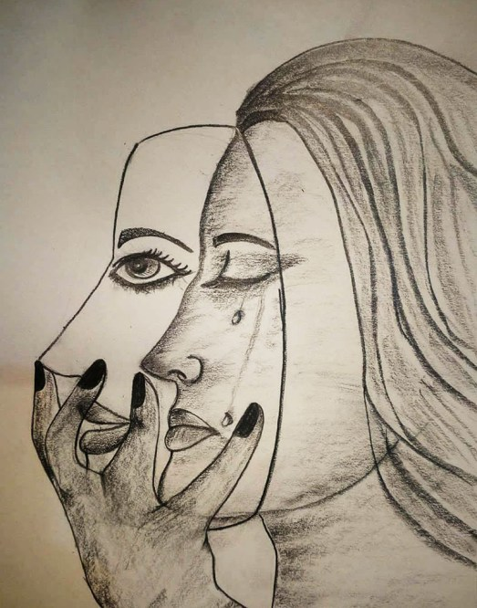 Drawing by Sonia Dutta - Face Mask - Doodlewash