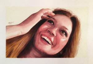 Watercolor portrait study – painting again my lovely friend but didn't do her justice! I