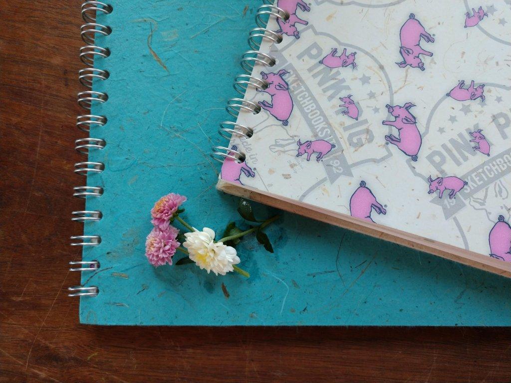 Pink Pig Sketchbooks Made In Great Britain