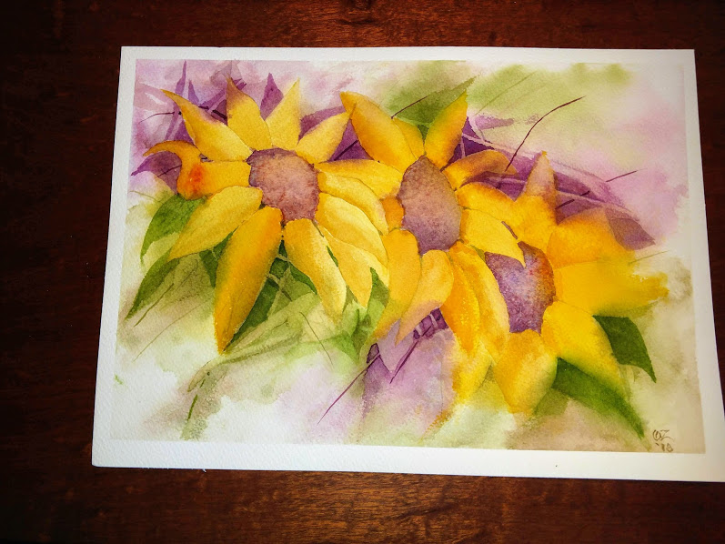 During and after. Watercolor on 11 x 14 Cold press 140 # color excercise. IMG_20180902_165705438IMG_