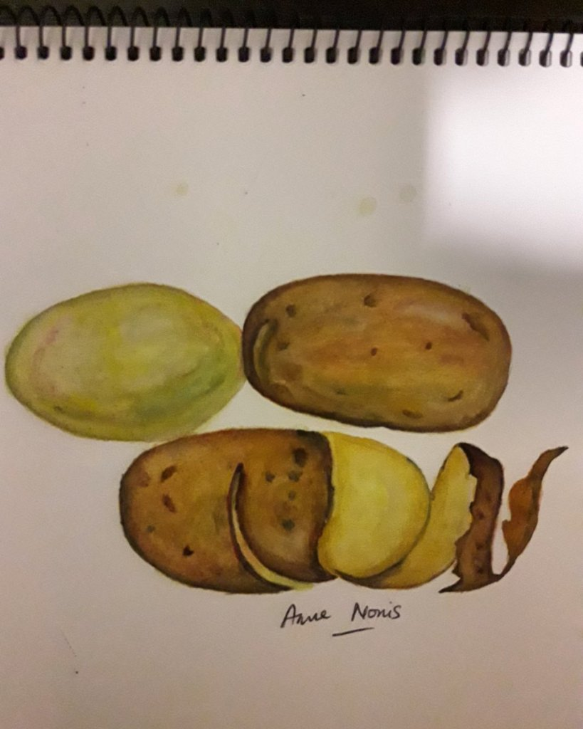 Mr Potato (watercolor practice). Ref photo from internet. IMG_20180919_231950_946