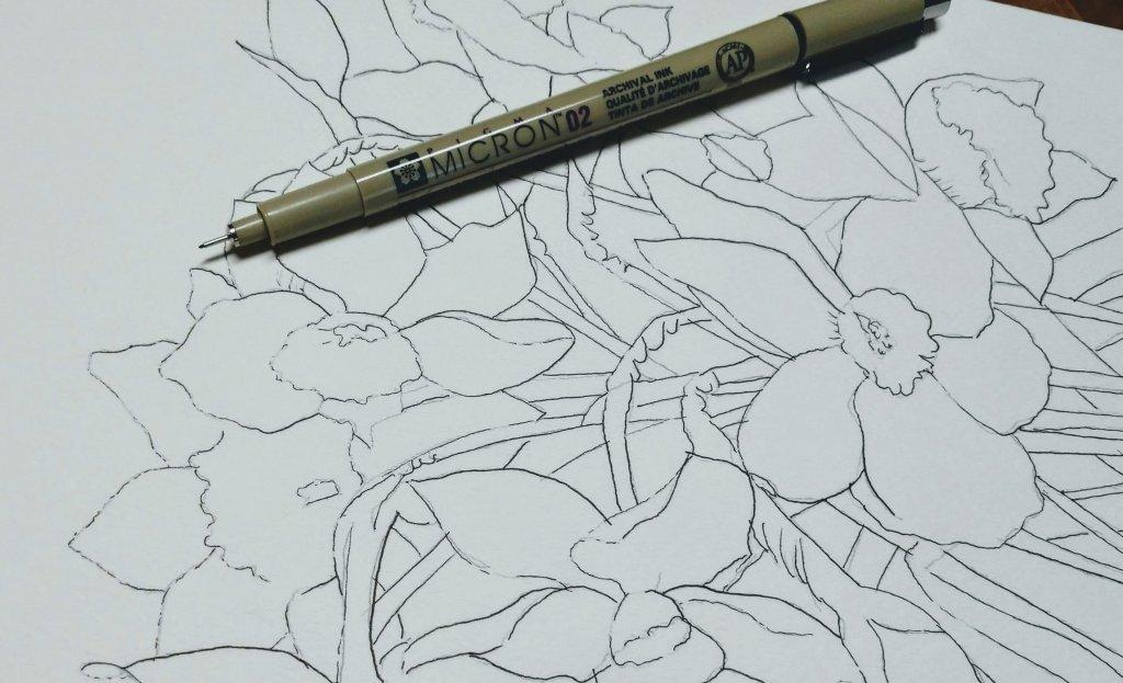 Inktober Day 1 - Micron Pens on Paper - Doodlewash