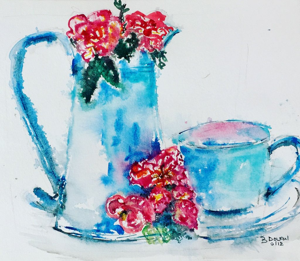 Watercolor Painting by Bernadette Tully Dolan