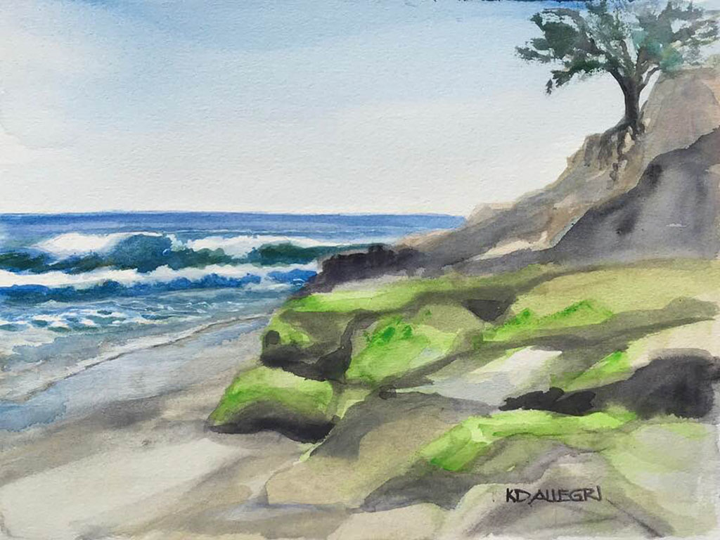 Watercolor Painting by Kathy Delumpa Allegri - Doodlewash