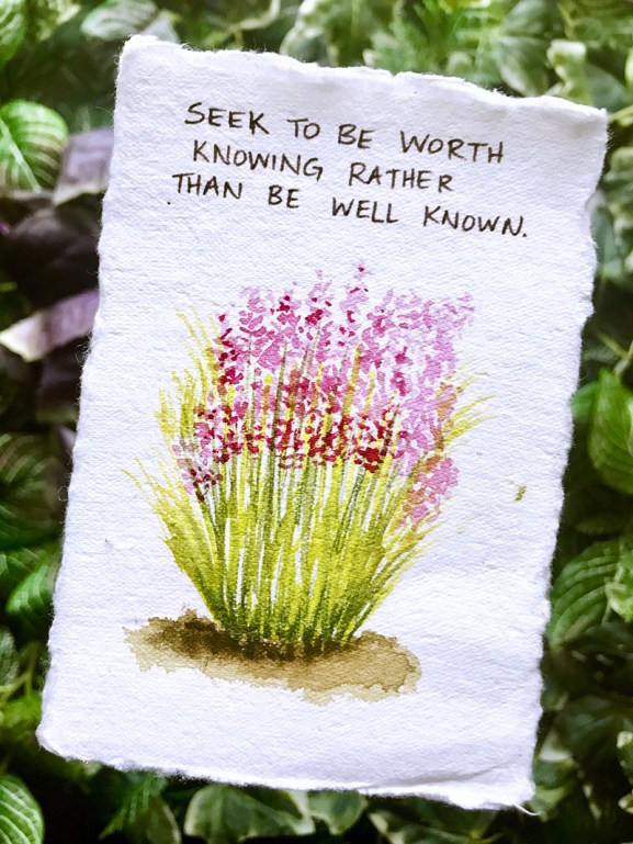 Be Worth Knowing Watercolor by Rubeena Ianigro - Doodlewash