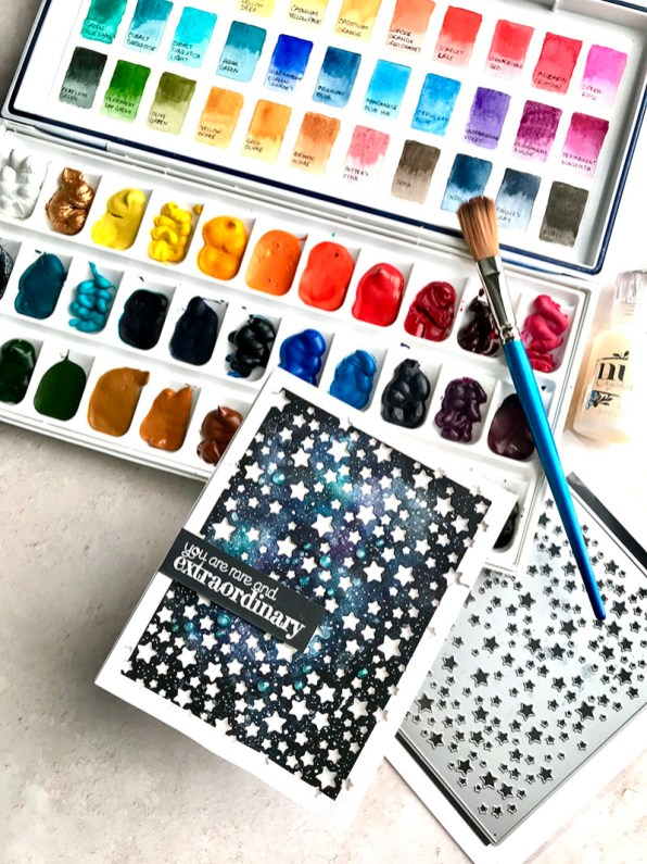 Starry Night Watercolor by Rubeena Ianigro - Doodlewash