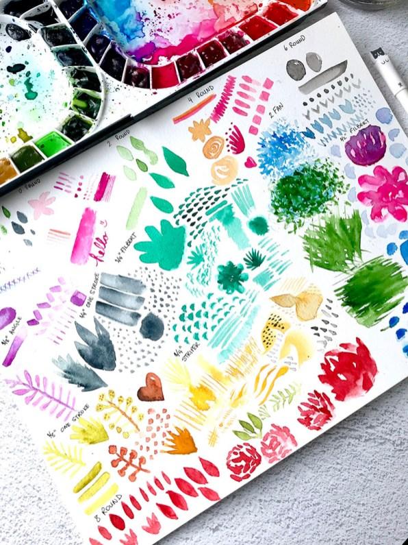 Watercolor Strokes by Rubeena Ianigro - Doodlewash