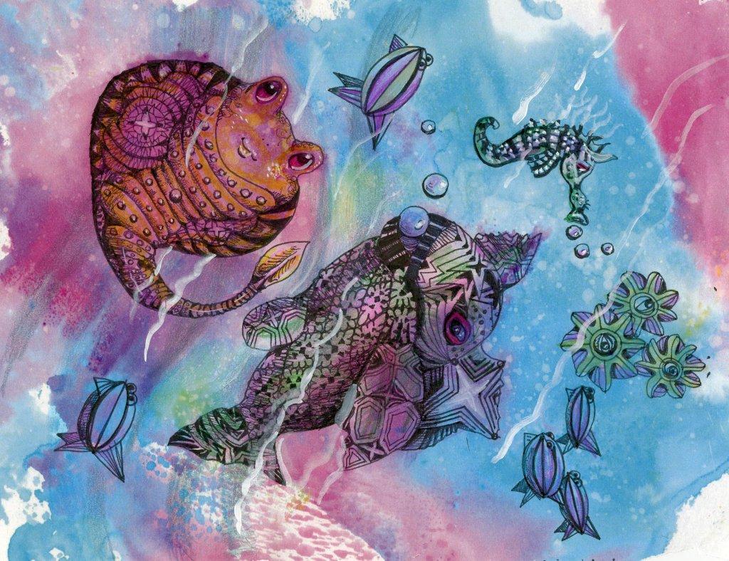 Zentangle Painting Example by Sandra Strait - Doodlewash