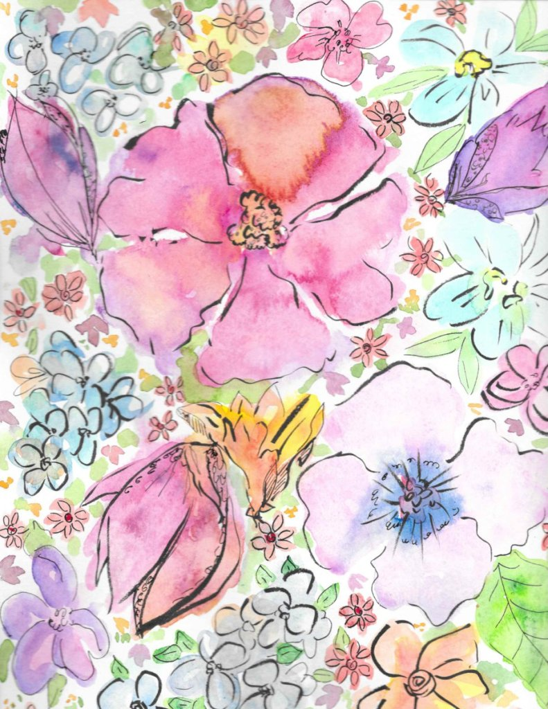 recent work,,, florals, botanicals, pretty butterflies,,,all inspired by nature and the beauty that