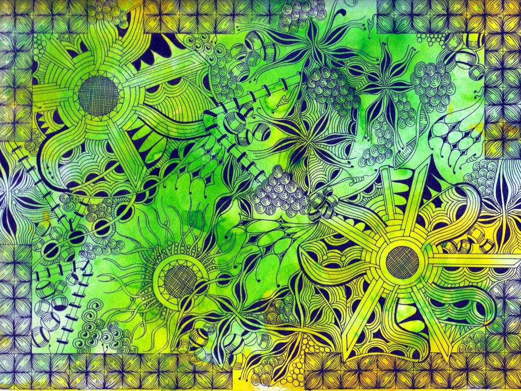 Tangle Art Example by Alice Hendon