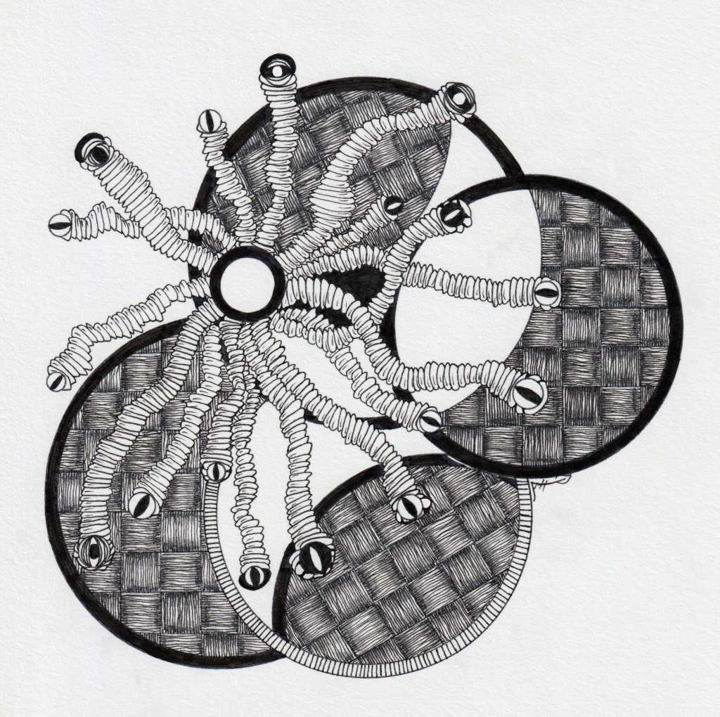 Zentangle® Example by Alice Hendon - Doodlewash®