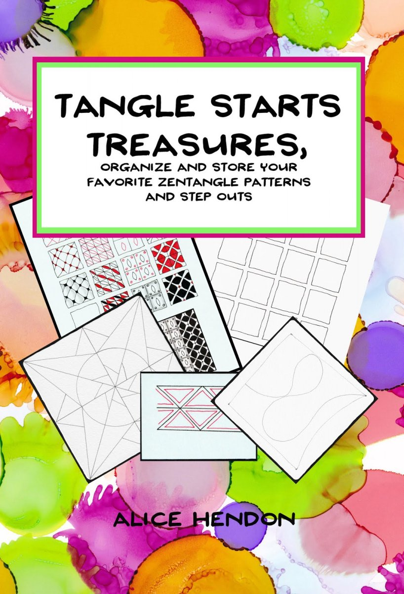 Tangle Starts Treasures by Alice Hendon Book Cover - Doodlewash