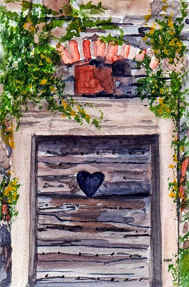 10/22/18 Door Built into the side of a hill along a narrow, winding road somewhere in France. So man
