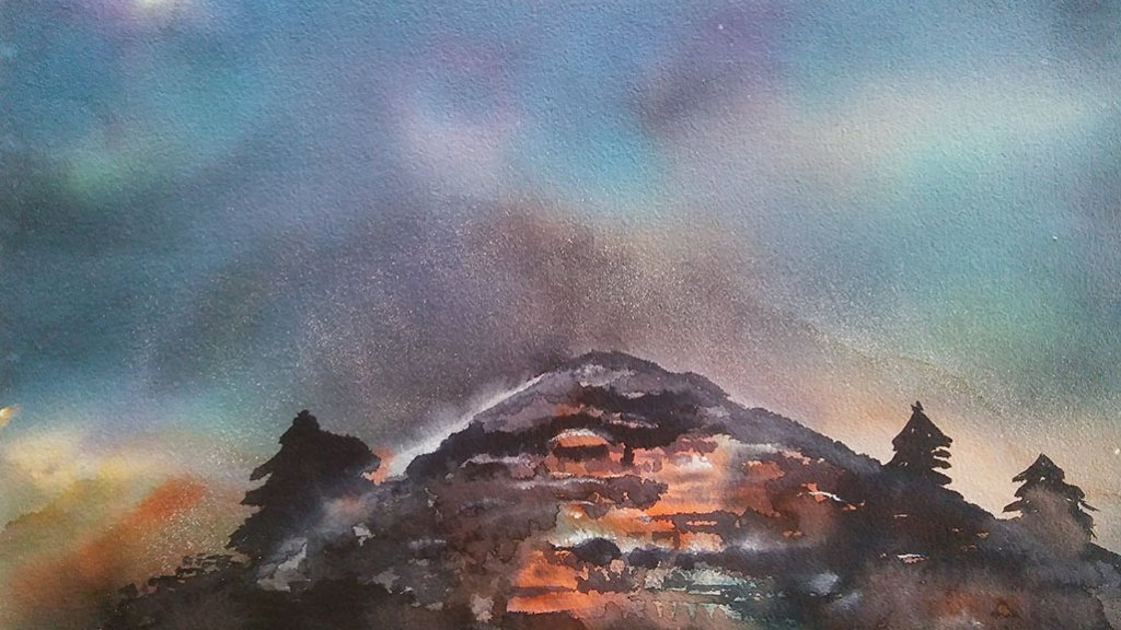 Watercolor Landscape Painting by Lalita Sharma - Doodlewash