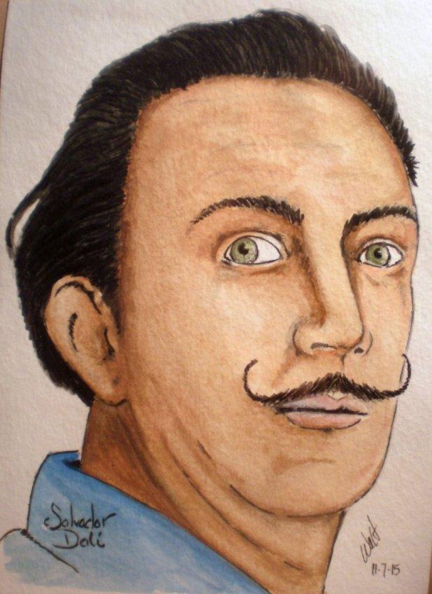 Salvador Dali Painting by Walt Pierluissi - Doodlewash