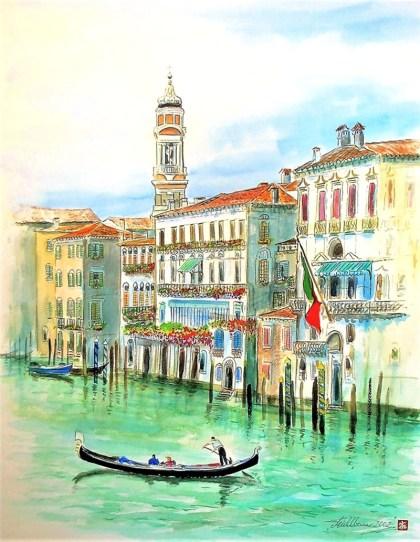 Venice Watercolor by Thomas Mühlbauer - Doodlewash