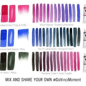 Denise Soden Moody Da Vinci Watercolor Trio Mixes