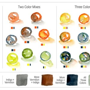 Charlie's Vintage Da Vinci Watercolor Trio Marble Mixes