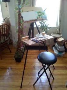 Homemade Plein Air Studio for Watercolorby Walt Pierluissi - Doodlewash