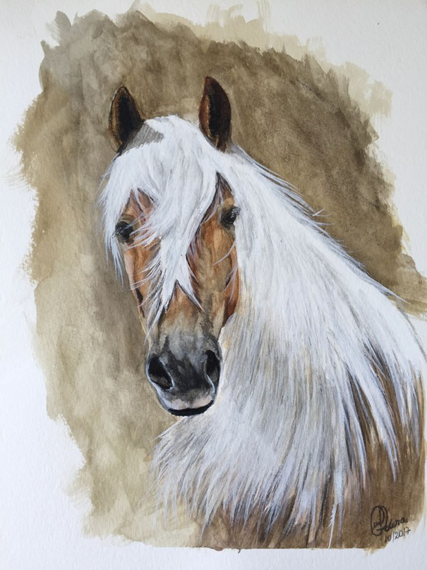 Watercolor Horse Painting by Claudia Polena - Doodlewash