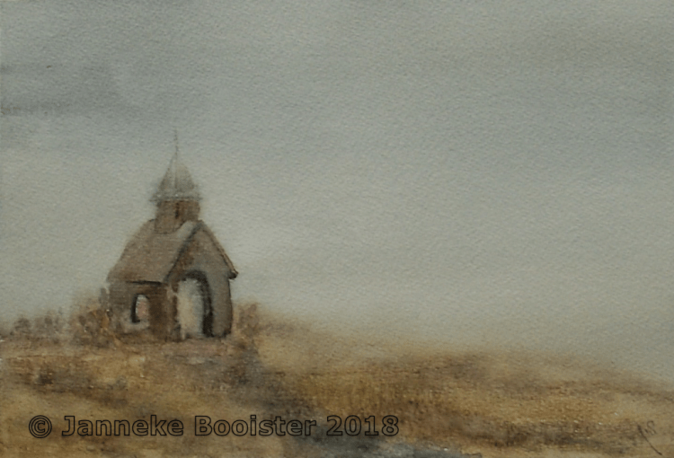 The same chapel, now another imaginary setting. This one is inspired by the gray November weather we