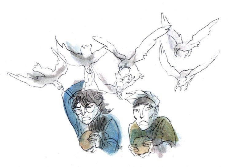 Doodlewash ▪ November ▪ Day 8: Birds 8 birds