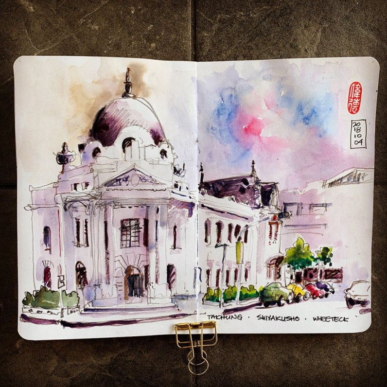 Architecture Watercolor by Whee Teck Ong - Doodlewash