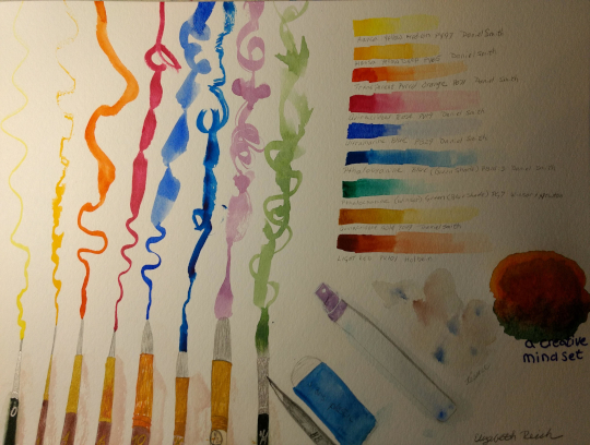 Prompt 1: Art Supplies In November I hope to take the next 29 prompts Doodlewash provides and apply