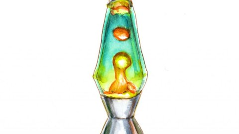 Day 10 Lava Lamp Watercolor- Doodlewash
