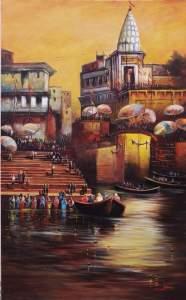 Benaras ghat 3ftx5ft FB_IMG_1533710255153