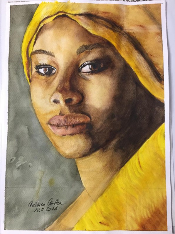 Girl's Portrait Watercolor by Carmen Costea - Doodlewash