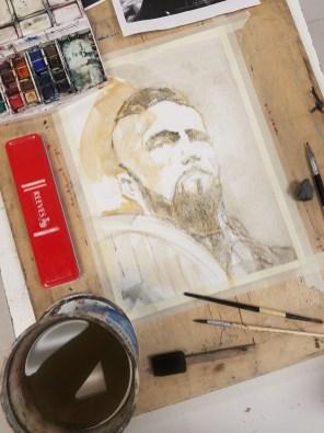 Jeff Stone Watercolor Process Doodlewash Step 2