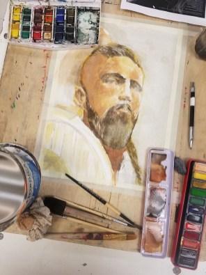 Jeff Stone Watercolor Process Doodlewash Step 3