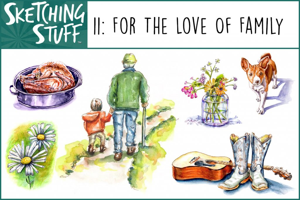 Sketching Stuff Podcast Episode 11 Artwork - For The Love Of Family